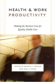 Cover of: Health & work productivity |