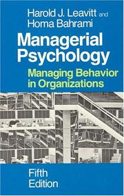 Cover of: Managerial psychology
