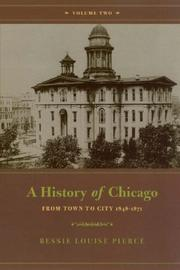 Cover of: A History of Chicago, Volume II