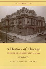 Cover of: A History of Chicago, Volume III