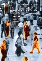 Cover of: Privacy at Risk | Christopher Slobogin
