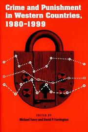 Cover of: Crime and punishment in western countries, 1980/1999 |