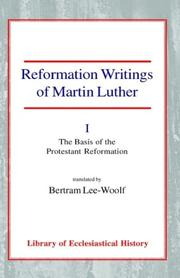 Cover of: Reformation Writings of Martin Luther by Martin Luther
