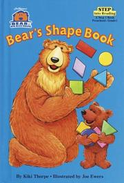 Cover of: Bear's shape book