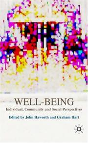 Cover of: Well-being