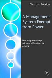A Management System Exempt from Power by Christian Bourion