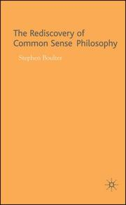 The Rediscovery of Common Sense Philosophy