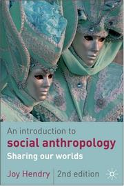 Cover of: An Introduction to Social Anthropology