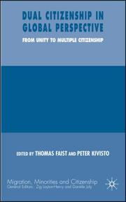 Cover of: Dual Citizenship in Global Perspective | Thomas Faist