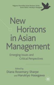 Cover of: New Horizons in Asian Management |