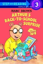 Cover of: Arthur's back-to-school surprise: a sticker book