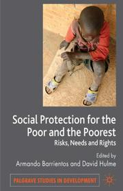 Cover of: Social protection for the poor and poorest
