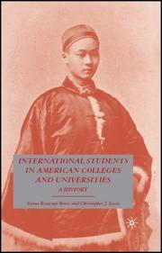 Cover of: International students in American colleges and universities by