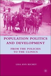 Cover of: Population Politics and Development | Lisa Ann Richey