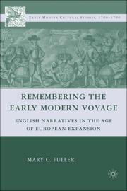 Cover of: Remembering the Early Modern Voyage | Mary C. Fuller