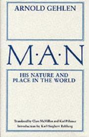 Cover of: Man, his nature and place in the world