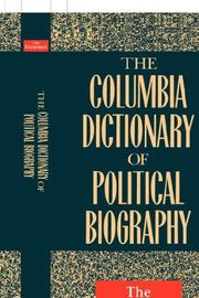 Cover of: The Columbia dictionary of political biography | Economist Books