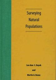 Cover of: Surveying natural populations
