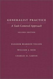 Cover of: Generalist practice by Eleanor Reardon Tolson