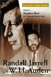 Cover of: Randall Jarrell on W.H. Auden