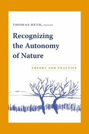 Cover of: Recognizing the Autonomy of Nature
