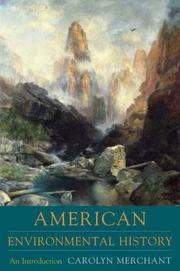 Cover of: American environmental history