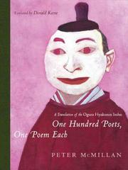 Cover of: One Hundred Poets, One Poem Each
