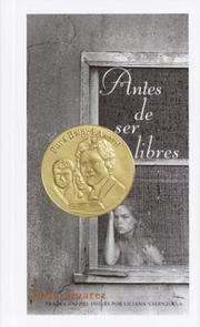 Cover of: Antes de ser libres