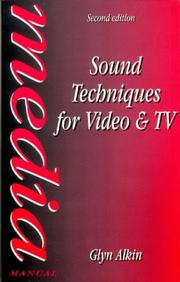 Cover of: Sound techniques for video and TV | E. G. M. Alkin
