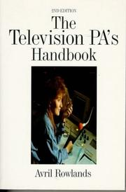 Cover of: The television PA's handbook