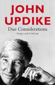 Cover of: Due Considerations: Essays and Criticism