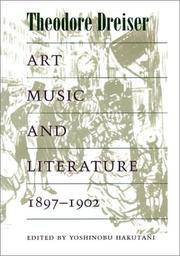 Cover of: Art, Music, and Literature, 1897-1902