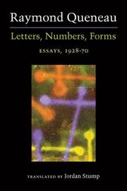 Cover of: Letters, numbers, forms: Essays, 1928-70