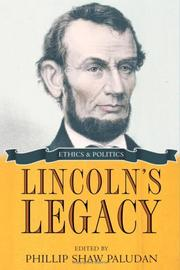 Cover of: Lincoln's Legacy