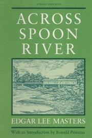 Cover of: Across Spoon River: an autobiography