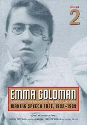 Cover of: Emma Goldman, Vol. 2: A Documentary History of the American Years, Volume 2