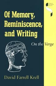 Cover of: Of memory, reminiscence, and writing