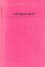 Cover of: Are Quanta Real? | Josef M. Jauch