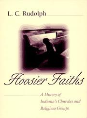 Cover of: Hoosier faiths | L. C. Rudolph