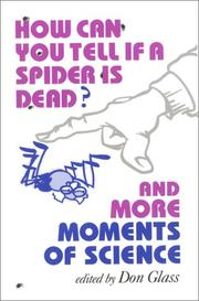 Cover of: How Can You Tell If a Spider Is Dead?