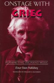 Cover of: Onstage with Grieg