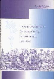Cover of: Transformations of Patriarchy in the West, 1500-1900