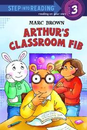 Arthur's Classroom Fib by Marc Tolon Brown