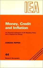 Cover of: Money, Credit & Inflation