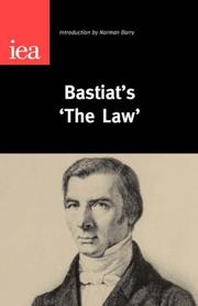 "Cover of: Bastiat's ""The Law"""