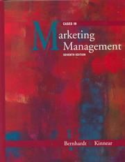 Cover of: Cases in marketing management