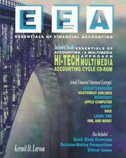Cover of: Essentials of Financial Accounting: information for business decisions