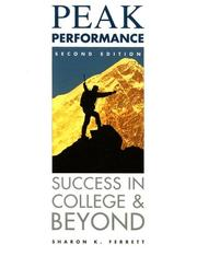 Cover of: Peak performance | Sharon K. Ferrett