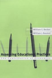 Cover of: Assessing educational practices