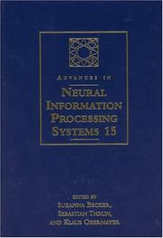 Cover of: Advances in Neural Information Processing Systems 15 |